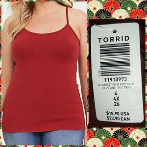 Torrid Scarlet Wine Red Foxy Cami Sz 4X(26)